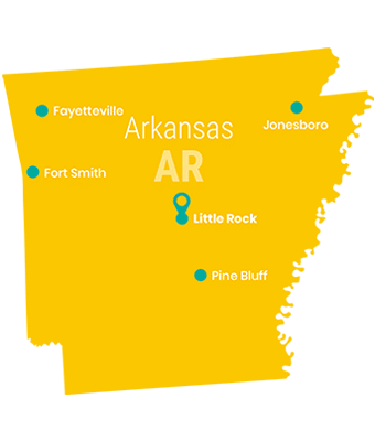 arkansas_Map_Preschool_Teacher_Salary